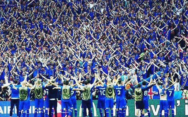 Landslidid og ahorfendur 22 juni 2016 i Paris EM Fotbolti