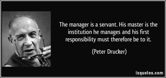 Drucker Servant