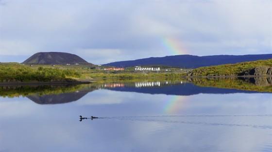 Bifrost Lake Hredavatn Rainbow